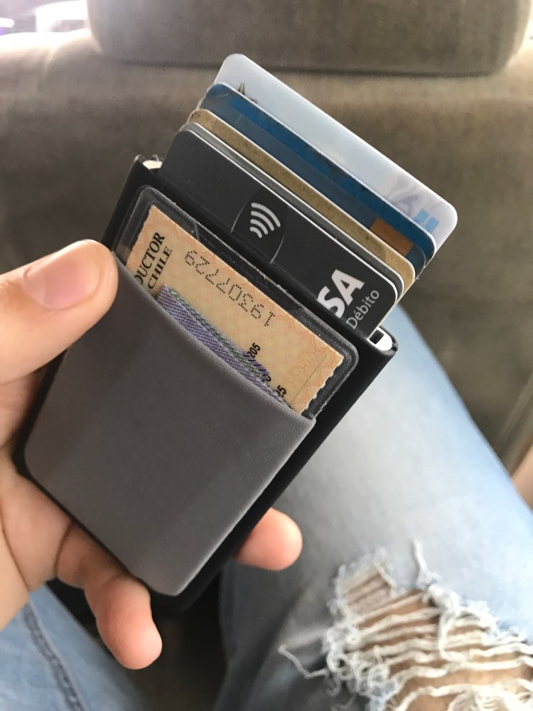NewBring Automatic Pop up Credit Card Holder Sleeve with RFID Blocking Front Pocket Slide Wallet for Men or Women photo review