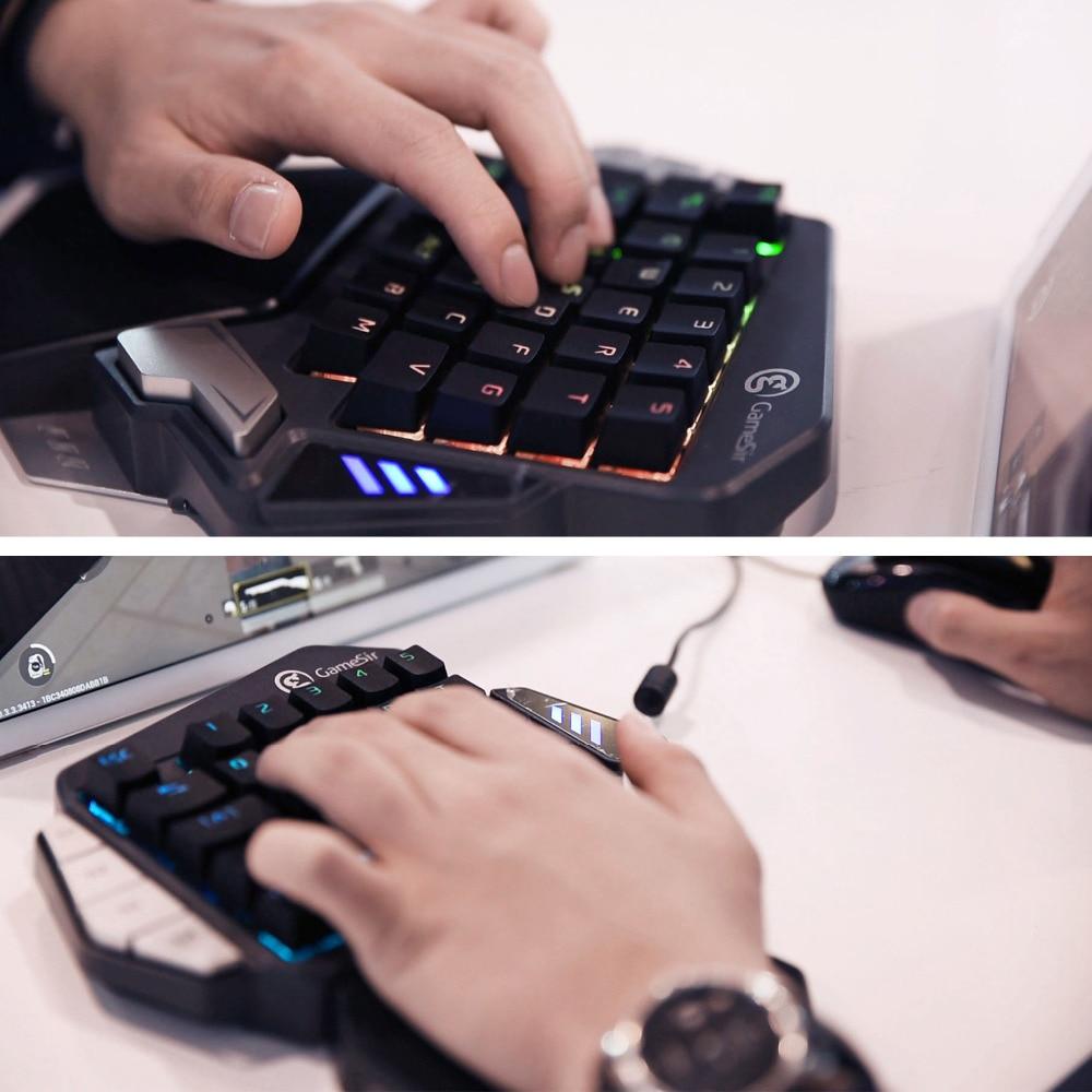 GameSir Z1 Bluetooth Draadloze Gaming Toetsenbord Mobiele/PC games, AoV, Mobiele Legends, FPS, hot games, Een Hand PC Toetsenbord-in Speel pads van Consumentenelektronica op  Groep 1