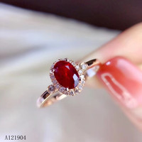 KJJEAXCMY boutique jewelry Women's 925 sterling silver inlaid natural ruby ring support test