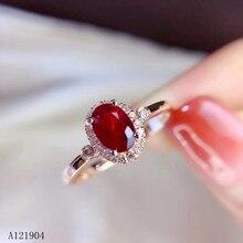 KJJEAXCMY boutique sieraden vrouwen 925 sterling zilver ingelegd natuurlijke ruby ring ondersteuning test