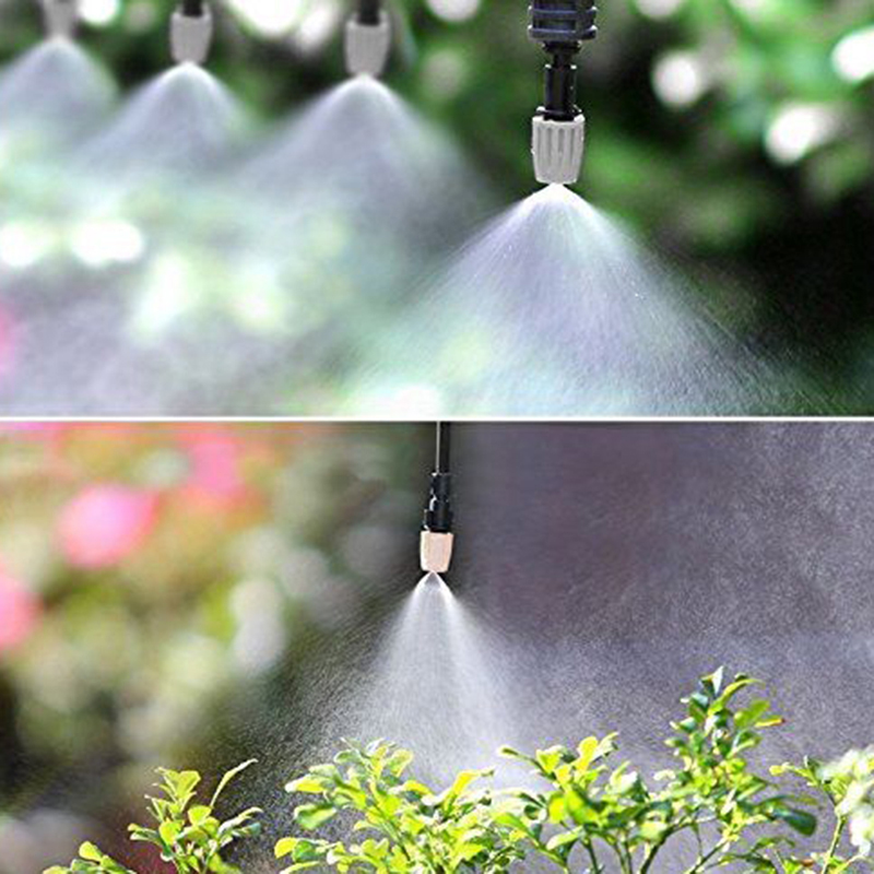 52 Pcs Automatic Irrigation Water Kits Outdoor Garden Sprayer Cooling System Mist Nozzles Sprinkler For Home Greenhouse Flower