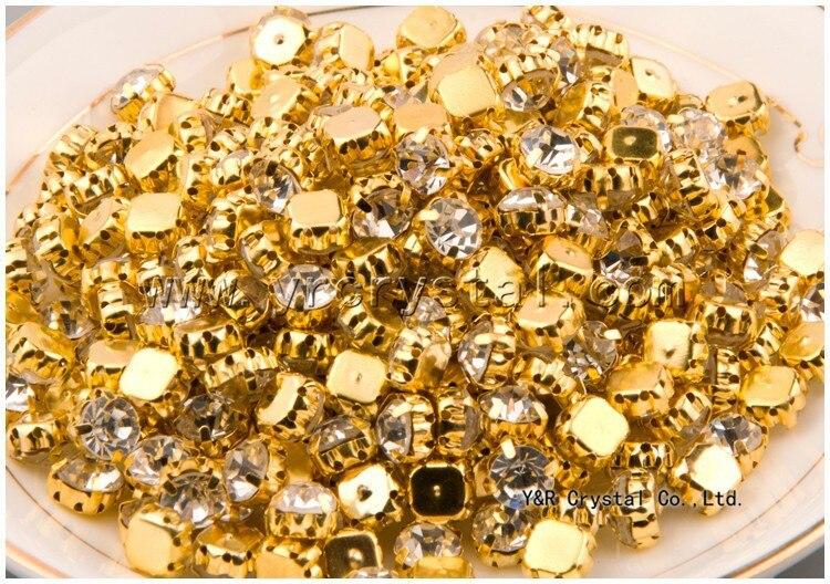 SS12-SS45 Guldfärg i olika storlek Sy på stenglas Crystal Shinny - Konst, hantverk och sömnad - Foto 3