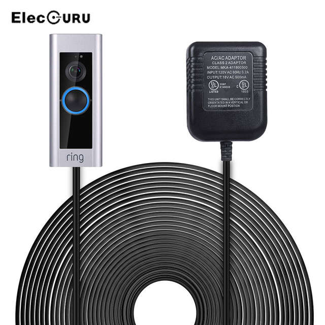 US $13 79 31% OFF|Power Supply Adapter Transformer For Zmodo Greet/Ring  Video Doorbell 2/Pro/Nest Video Doorbell 6M Cable US/UK Plug AC  120V/230V-in