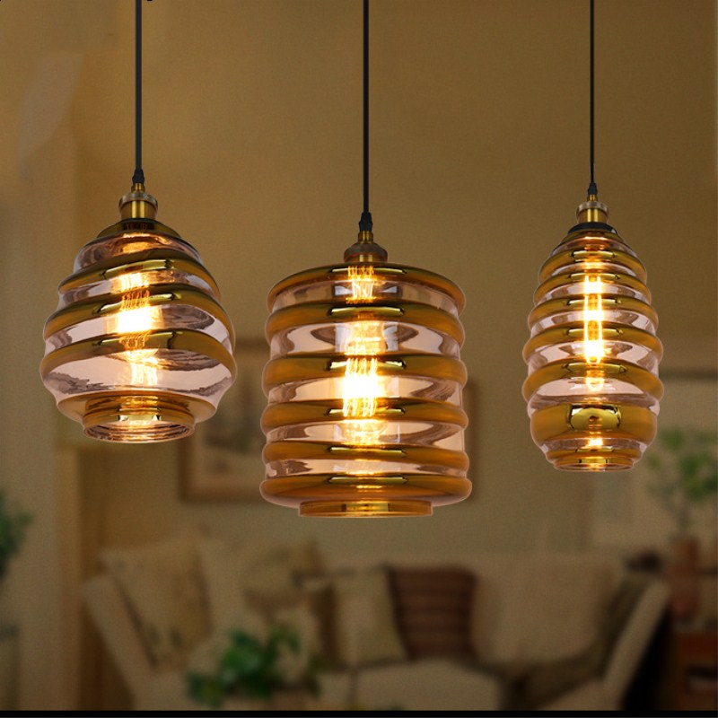 Modern American Style Industrial Retro Style Pendant Light Cafe Restaurant Bedroom Livingroom Decoration Lamp Free Shipping
