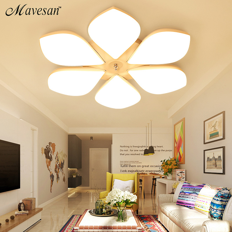 Modern flower LED ceiling lights For indoor home lighting lamparas de techo led lamps for living room luminaria teto pendente luminaria avize modern ceiling lights led lights for home lighting lustre lamparas de techo plafon lamp ac85 260v lampadari luz