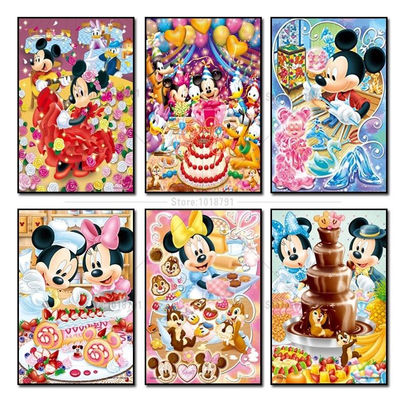 30b0e3718b Detail Feedback Questions about Diamond Embroidery Mickey Mouse 5D Diy  Diamond Painting Cross Stitch Kits Full Diamond Mosaic Crystal Cartoon Mice  ...