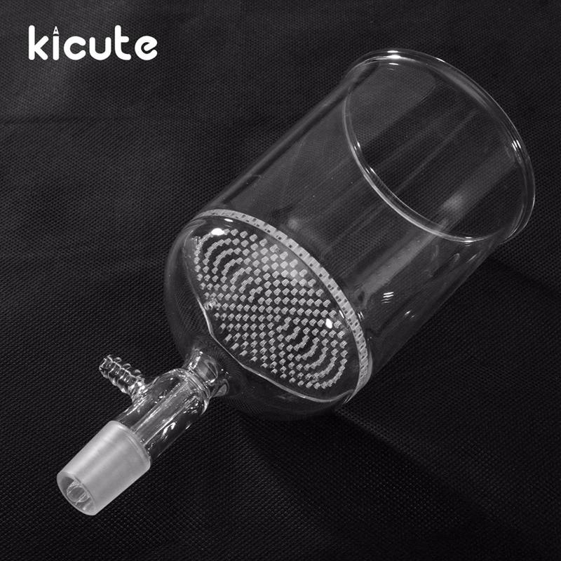 Kicute Laboratory Borosilicate Glass Funnel Buchner With 80mm Pore Plate 500ml 24/40 Lab Chemistry Equipment School Supply