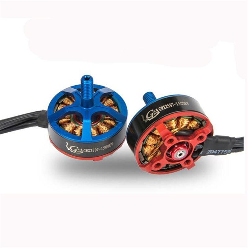 4 pcs Garila X2507 1500KV 2350KV 2750KV Brushless Motor Para RC Modles Brinquedos Quadro Multicopter ESC Servo RC Racing Azul Vermelho parte