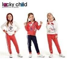 Детские комплекты Lucky Child для девочек 57-41f 57-42f 57-43f детская одежда спортивный костюм детская одежда костюмы для малышей