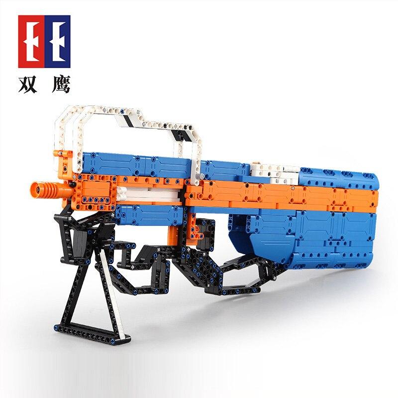 Simulation P90 Maschinenpistole Assault Snipe Gun Military Technic Modell Baustein Ziegel Kompatibel Legos Spielzeug Geschenke Für Kinder Farben Sind AuffäLlig