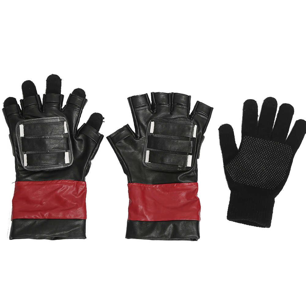 Deadpool Logo Black Fingerless Adult Size Gloves