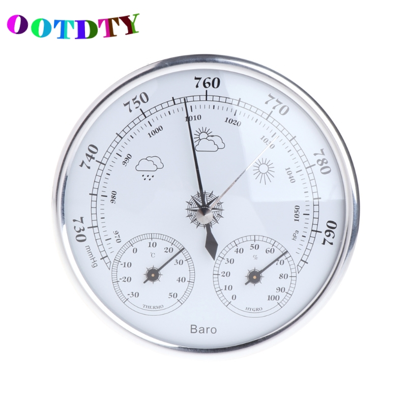 OOTDTY Household Weather Station Barometer Thermometer Hygrometer Wall Hanging Tester Tools 3 in 1 multifunctional household weather station barometer thermometer hygrometer wall hanging hot selling 2017 9a30065
