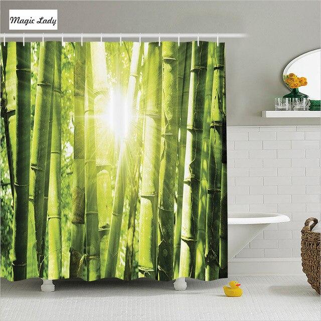 Douchegordijn Bamboe Badkamer Accessoires Aziatische Decor Forest ...