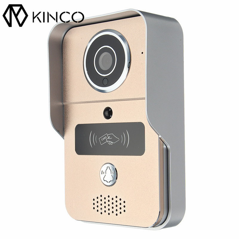 KINCO WIFI Doorbell Connect Network Audio Video P2P Tamper Alarm Night View Safe Smart Home Wifi Remote Control for Smartphone