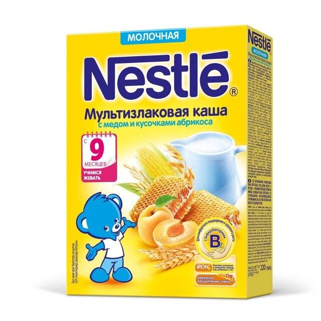Nestle Молочная мультизлаковая каша с мёдом и кусочками абрикоса (с 9 месяцев) 220 г