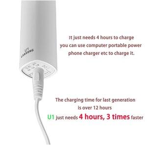 Image 4 - Электрическая зубная щетка LANSUNG U1, перезаряжаемая звуковая зубная щетка, ультразвуковая зубная щетка, звуковая щетка для взрослых и детей