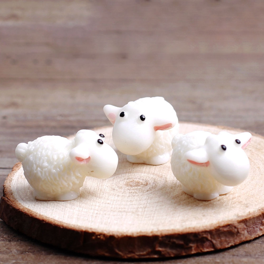 Cratone 10pcs Resin Sheep Moss Micro Landscape Decoration DIY Assembly Decoration Accessories Material Red
