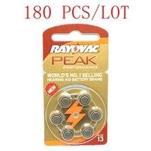180 조각 아연 공기 보청기 배터리 A13 13A 13 P13 PR48 무료 배송 60 PCS 보청기