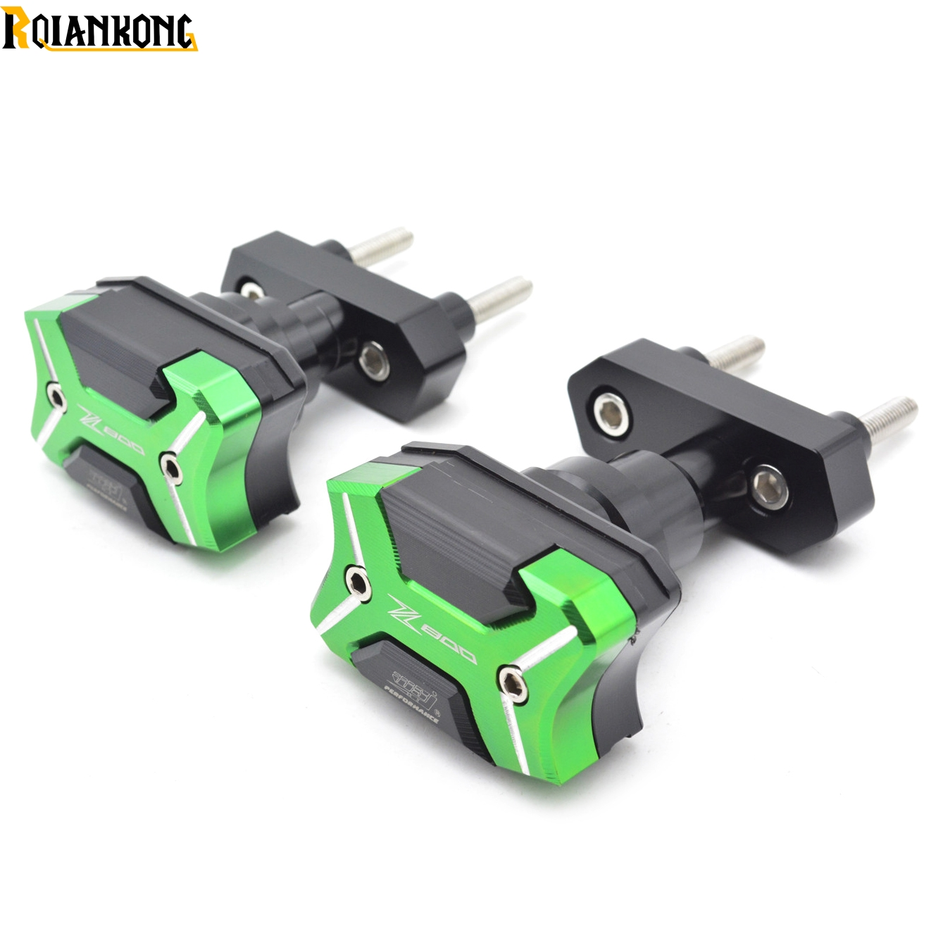 Motorcycle Frame Crash Pads Engine Case Sliders Falling Protector For Kawasaki Z800 ZR800 Z ZR 800 with Z800 laser mark Green motorcycle cnc crash pads frame sliders protector for kawasaki z800 z 800 2013 2014 black
