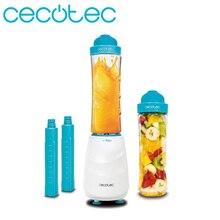 Cecotec Smoothies mélangeur électrique titane un mélangeur à gobelet Portable permet de hacher la glace et lave-vaisselle a 2 tuyaux de réfrigérateur