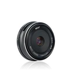 Meike 28mm f2.8 fixed manual focus lens for Canon EOS M Sony E Fuji Fujifilm X Olympus Panasonic M4/3 Mount Mirrorless