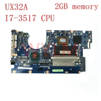 UX32A motherboard With I7-3517 CPU 2GB memory mainboard For ASUS UX32A UX32V UX32VD laptop motherboard Tested Working Well