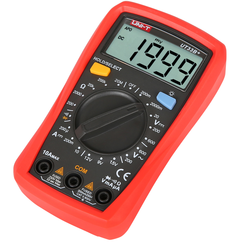Image 4 - UNI T UT33A+/UT33B+/UT33C+/UT33D+ Palm Size Multimeter; Resistance/Capacitance/Temperature/NCV Test, Backlight-in Multimeters from Tools