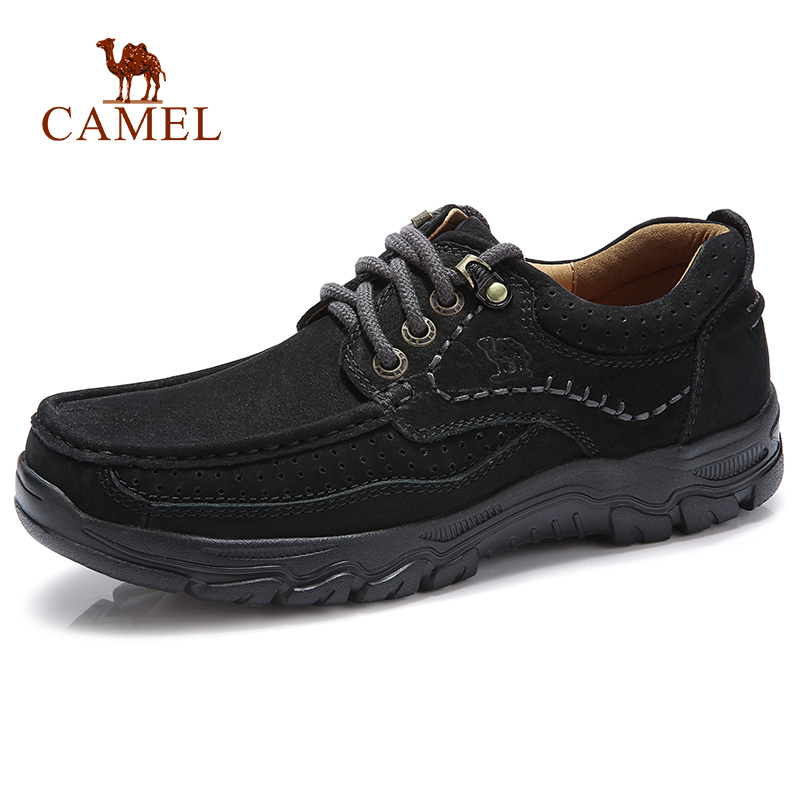 CAMEL Genuine Leather Men Casual Shoes Comfortable Soft Cowhide Outdoor Black Retro Male Man Footwear mocassin