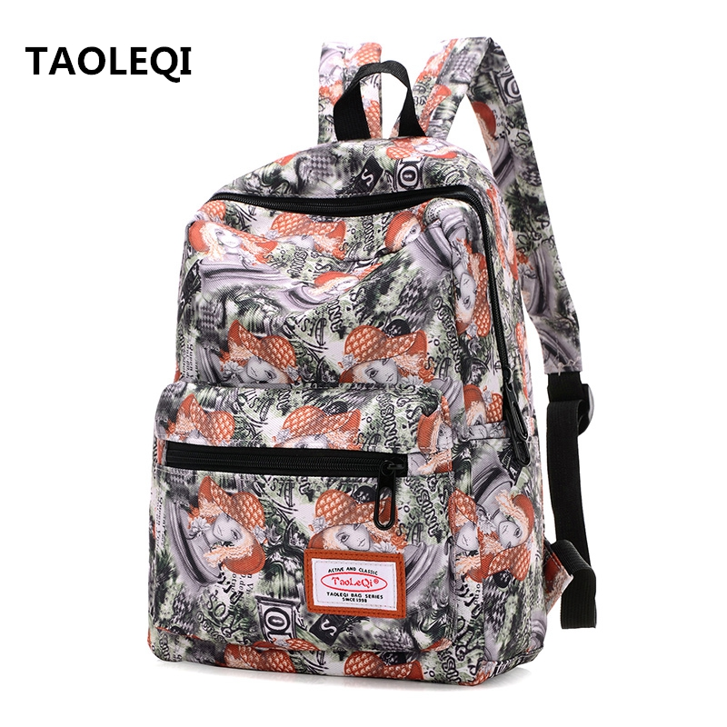 TAOLEQI Women Backpacks for Girls Rucksack Fashion Canvas Bags School Bags Leisure Laptop Backpack Female Canvas Backpacks