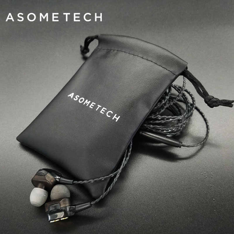 ASOMETECH Storage Pouch Bags Small Earphone USB Cable Audio Line Mini Bluetooth Headset Storage Box Protective Bag Travel Parts