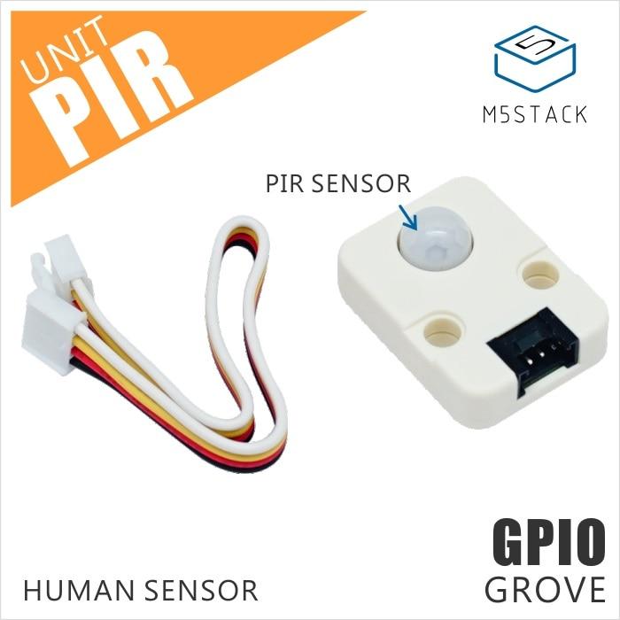 M5Stack Official Mini PIR Sensor Human Body Infrared PIR Motion Sensor Detector Module GPIO GROVE ConnectorM5Stack Official Mini PIR Sensor Human Body Infrared PIR Motion Sensor Detector Module GPIO GROVE Connector