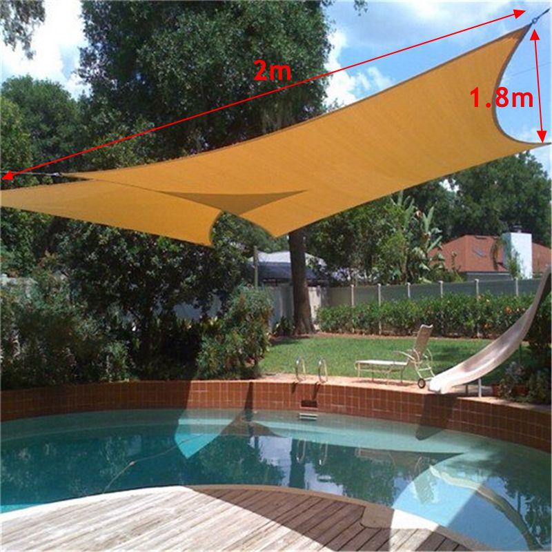 Sun shade awning sun block sail shelter net outdoor garden for Garden pool netting