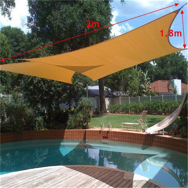 Sun Shade Awning Sun Block Sail Shelter Net Outdoor Garden Car Cover Canopy Patio Swimming Pool : pool awnings canopies - memphite.com