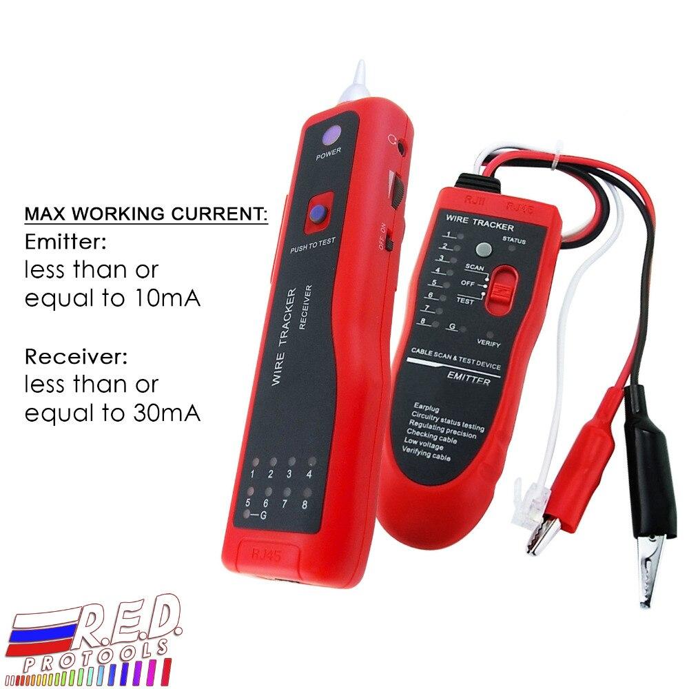 Traceur téléphonique réseau LAN RJ45 BNC testeur de câble Tracker fil électrique Finde