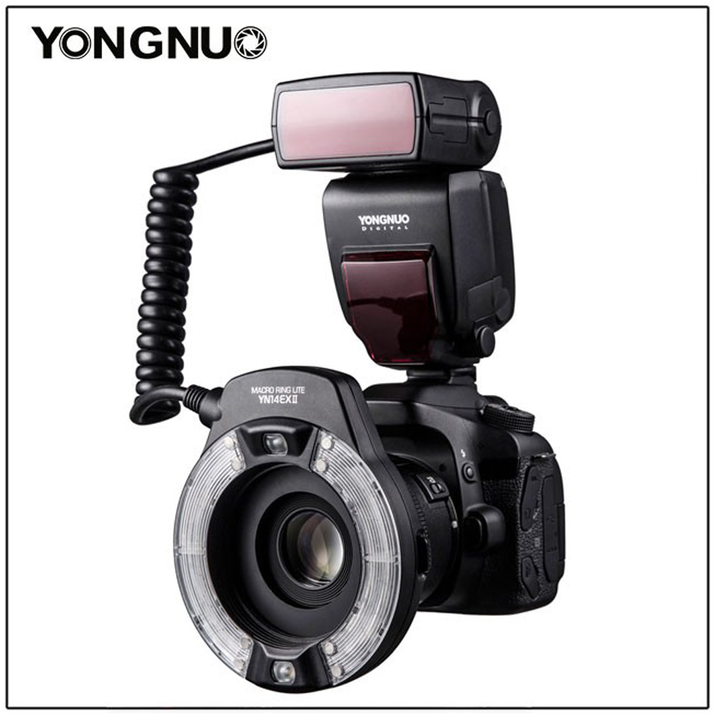 Yongnuo YN-14EX II TTL LED Macro Ring Flash Light for Canon 6D 5D MARK IV 70D 200D 6D MARK II T6 1300D 200D 70D 7D G7X mark ii