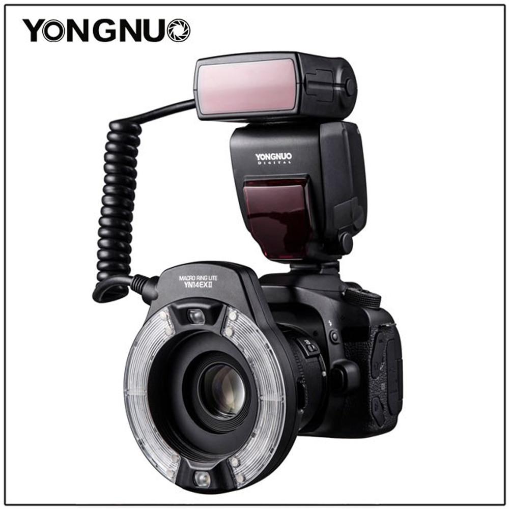 Yongnuo YN-14EX II TTL LED Macro Ring Flash Light For Canon 6D 5D MARK IV 70D 200D 6D MARK II T6 1300D 200D 70D 7D G7X Mark Ii