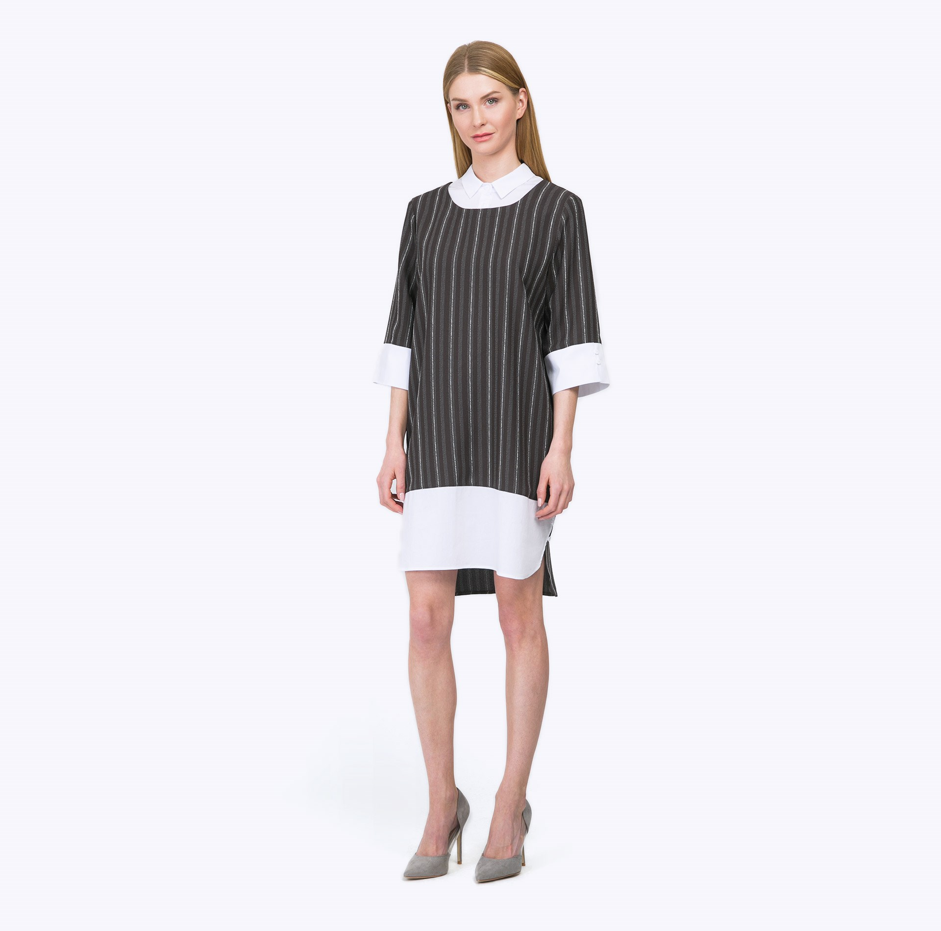 Dress straight striped blouses engino engino конструктор discovering stem механика кулачки и кривошипы