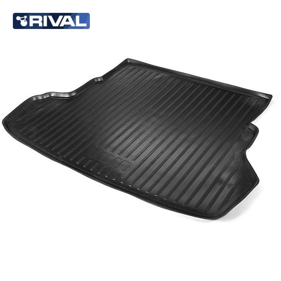 For Kia Rio 2011-2016 SEDAN trunk mat Rival 12803003 автомобильный коврик rival 12803003 для kia rio sd 2011 2017