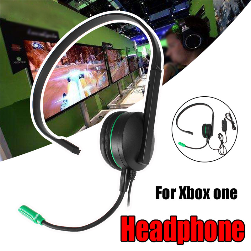 Wired Chat Gaming Single Side Headset Headphones Earphone Gaming Noise Cancelling With Microphone For PS4 For Xbox ONE hot sale protable xbox360 wired gaming chat single headset headphone microphone for xbox 360 computer black
