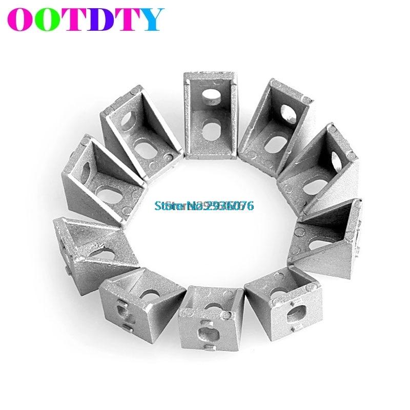 10Pcs/lot Aluminum Brace Corner Joint Right Angle Bracket Joint L Shape 20x20mm 100 20x20mm p06707