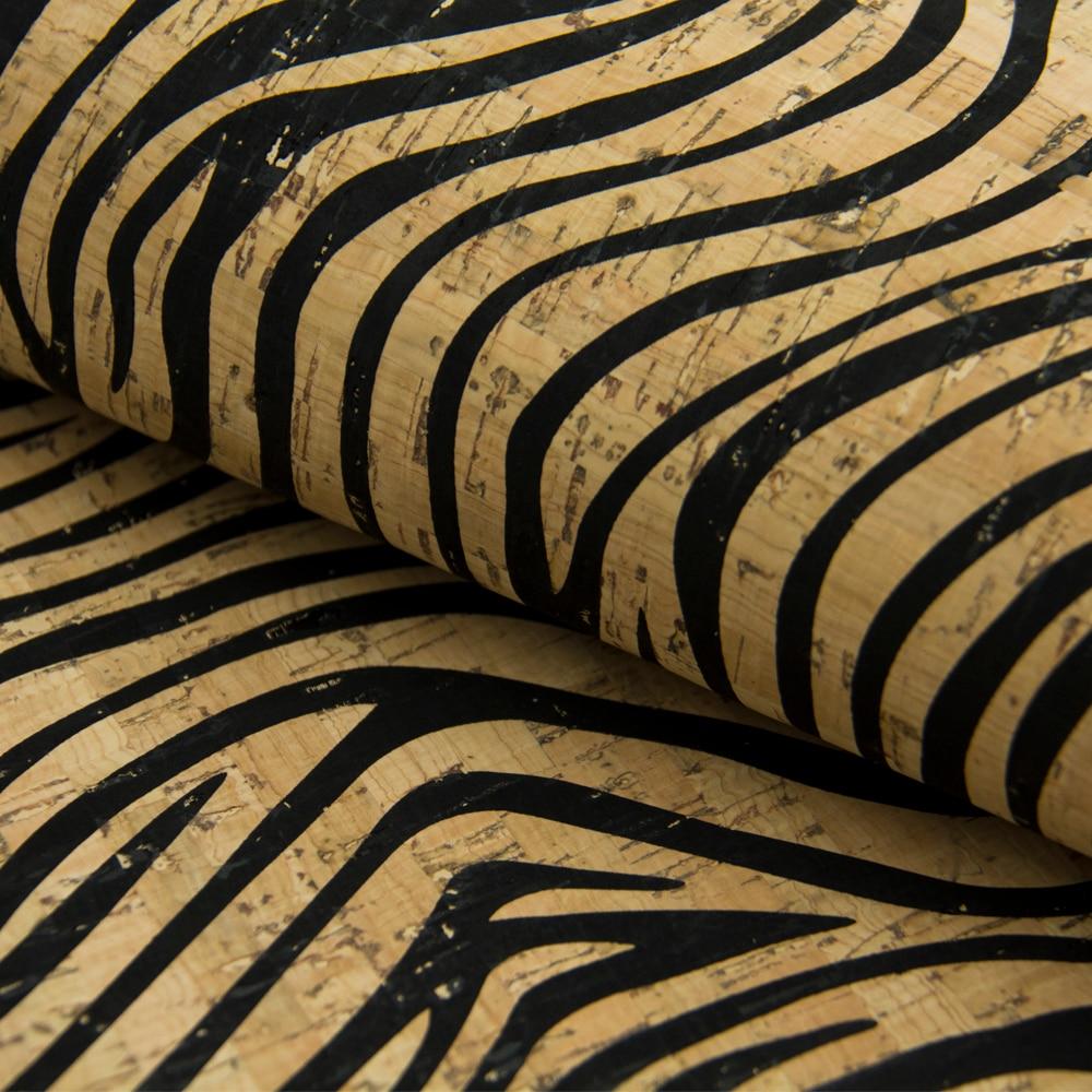 PORTUGAL cork fabric Zebra pattern Cork leather Vegan waterproof Abrasion resistance fabric COF-170 стоимость