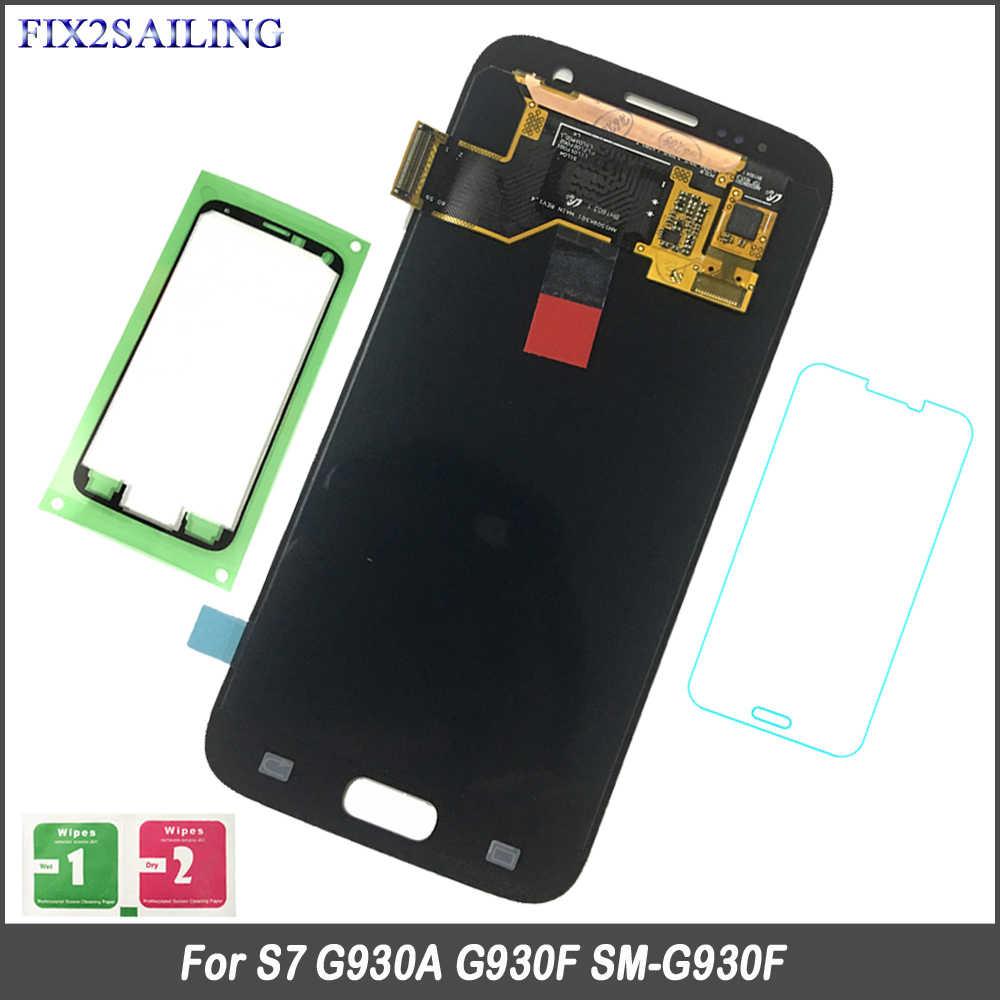 FIX2SAILING 100% probado trabajando AMOLED pantalla LCD de pantalla táctil asamblea para Samsung Galaxy S7 G930A G930F SM-G930F