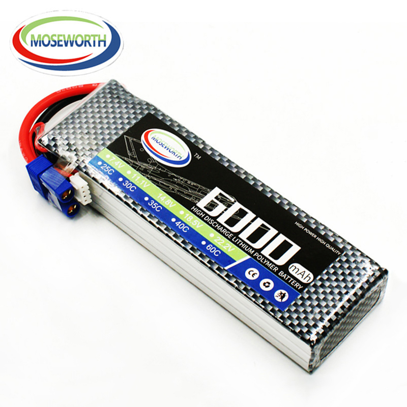 Lipo Battery 3S 11.1V 6000mAh 40C For RC Drone Quadcopter Car Airplane Helicopter Remote Control Toys Lithium Polymer Battery