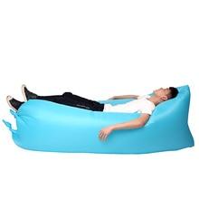 Bolsa Plegable impermeable 250×75 cm Cuadrado Lazy Sofá Inflable de Aire Que Acampa saco de Dormir Rápido Playa Cama de Aire Salón de dormir bolsa