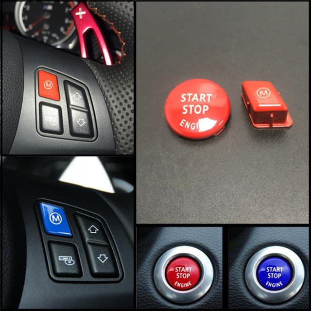 Rojo volante deportivo Modelo M botón para BMW Serie 3 E90 E92 E93 M3 2007-2013 accesorios de coche reemplazo