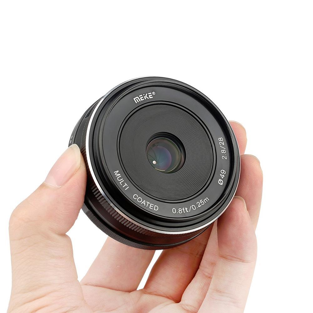 Meike 28 мм f2.8 фиксированный ручной фокус объектив для Canon EOS M Sony E Fuji Fujifilm X Olympus Panasonic M4/3 крепление беззеркальный
