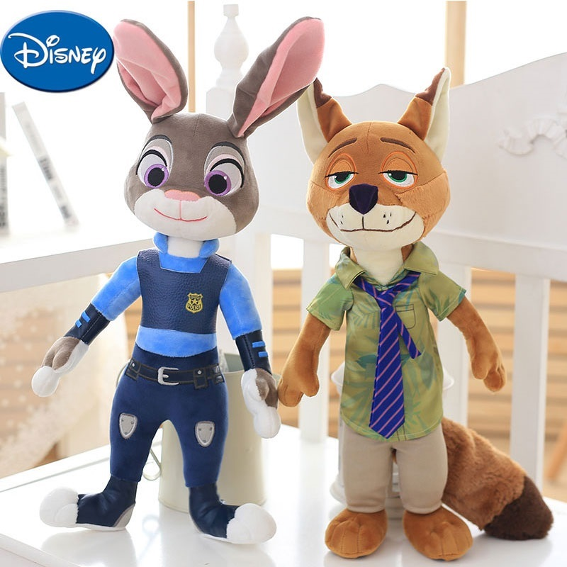 Disney Cartoon Movie Doll Nick King Zootopia De Judy Hopps Plush Safety PP Cotton Plush Toys Children's Gifts movie zootopia plush toys rabbit judy hopps nick wilde zootopia cotton stuffed plush doll children baby kids toys wj347