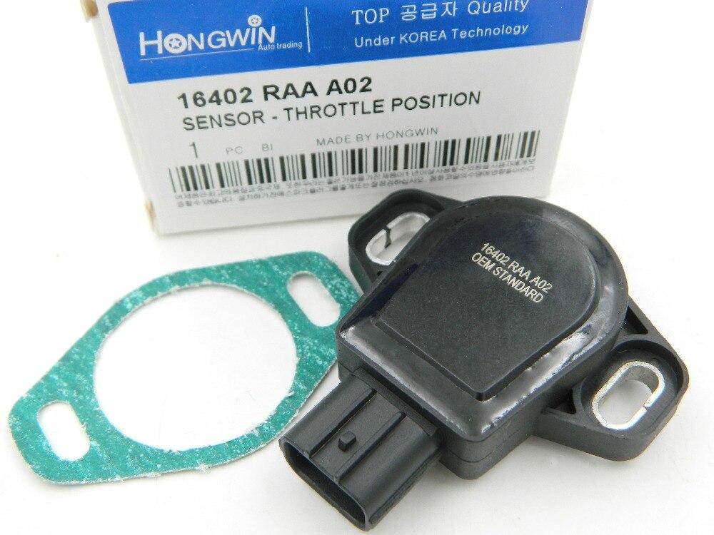 ของแท้ No.16402RAAA02 เซ็นเซอร์ตำแหน่งคันเร่งเหมาะกับ Honda Element Accord 2.4L 16402REJW01, TPS-H114 16402 RAA A02 16402RAAA00