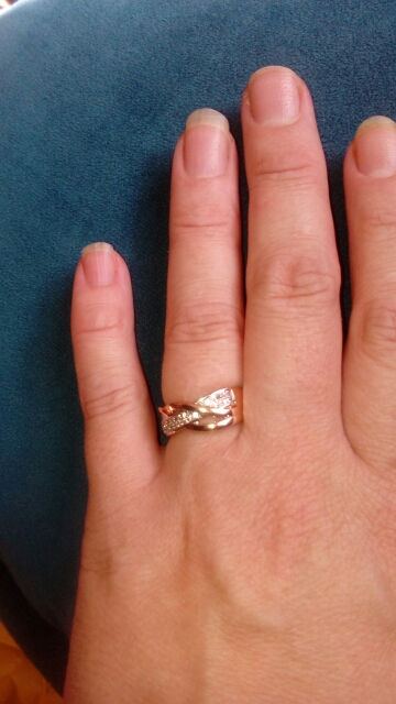 Love Spiral Ring with CZ Crystals photo review
