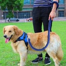 1 комплект Big Pet посвященный собаки поводок и ошейник Жилы Плетеные Веревка Собаки Ошейники Поводки цепь сильный для больших собак Животные